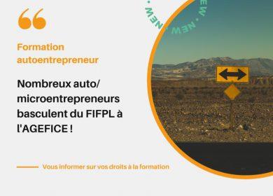 De nombreux Auto/Micro-entrepreneurs basculent du FIFPL à l'AGEFICE