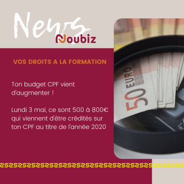 budget CPF - mon compte formation