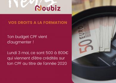 + 500€ sur ton CPF !